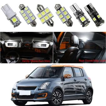 8X-SPEED For SUZUKI SWIFT Jimny Alto/Celerio Car Led Interior LightReplacement Bulbs Dome Map Lamp Light Bright White - intl