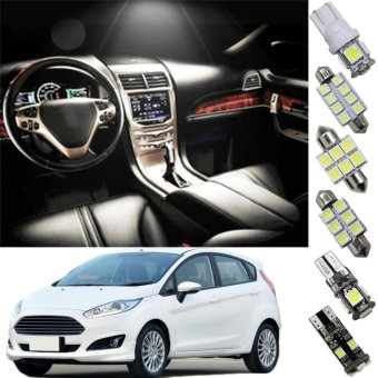 8X-SPEED Interior Led Light For Ford Ecosport 2013EscapeFiesta(sunroof) Focus Car Replacement Bulbs Dome Map Lamp LightBright White - intl