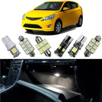 8X-SPEED Interior Led Light For Hyundai Elantra I30 VERNA SolarisCar Replacement Bulbs Dome Map Lamp Light Bright White - intl