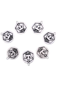 8YEARS B83329 Metal Pendants Set of 5 (Silver)
