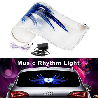 90*25cm EL sheet Light lamp Equalizer to window Angle Soul charioLed Decoration Car styling music car sticker music equalizer - intl