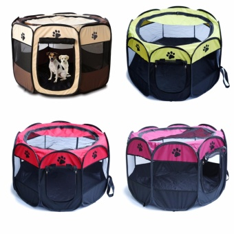 90*90*60CM Portable Folding Pet House Tent Dog Cat SleepingExercise Play House Tent Bag(Pink) - intl