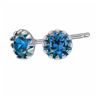 925 Silver Birthstone stud earring (Silver) for ladies