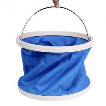 9L Folding Portable Car Wash Bucket (Blue)