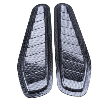 A Pair Universal Car Decorative Air Flow Intake Vent Cover Hood Fender - intl