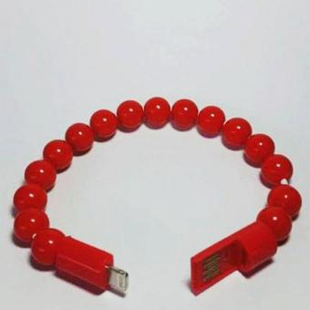 AA Fashion Bracelet Beads / Charger Cord Iphone 5&6(Red) Price Philippines