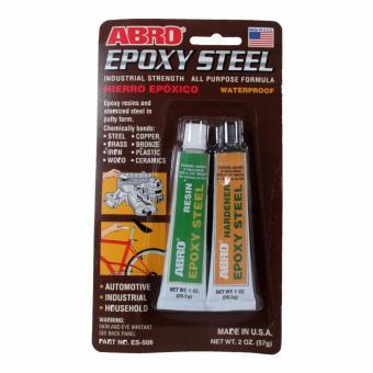 Abro Epoxy Steel Adhesive 2oz.(57g.) (2 pcs/cd)