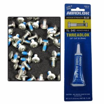 "Abro Medium Strength Blue Removable Threadlock 3/8\""-1\""0.2fl.oz./6ml"
