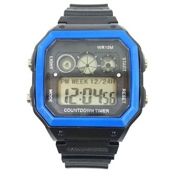Active Men Digital Sports Watch With Timer (Blue)