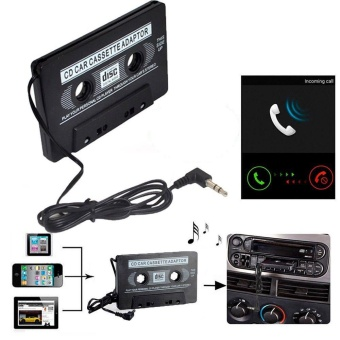 Adapter Car Audio Cassette Casette Tape 3.5mm AUX Audio For MP4 CDIpod iPhone - intl