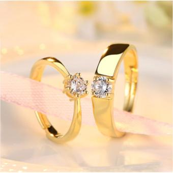 Adventurer Adjustable Couple Rings Jewelry Affectionate LoversRings(Gold) JZ-13 Price Philippines