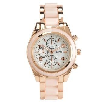 Aeropostale Enamel Polish Boyfriend Watch Pink Rose Gold 1842