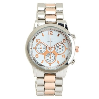 Aeropostale Two-Tone Boyfriend Watch Silver