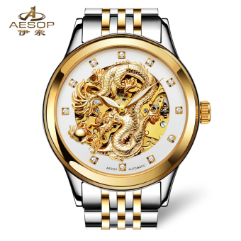Aesop fashion gold Porous Stainless Steel watch