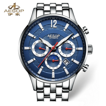Aesop fashion men's stainless steel waterproof luminous men's watch automatic mechanical watch