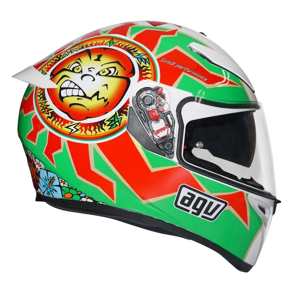 Philippines Agv K3 Sv Rossi Imola1998 Replica Helmet White Green K3sv Simoncelli Red L