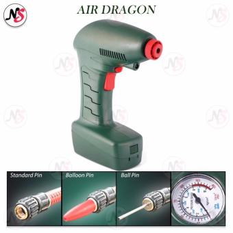 Air Dragon Handheld Portable Air Compressor Auto Tire Inflator Balls Mattress Toys Pump Emergency Tool (Green)