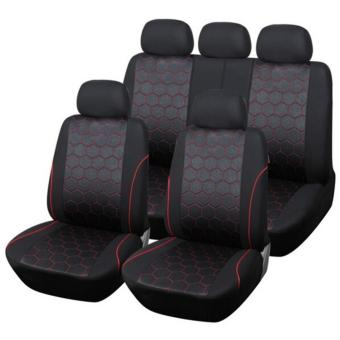 Ajusen Soccer texture fashion dynamic four seasons general car seatcushion seat cover Universal Accessories Protector Covers ForTOYOTA RAV4 Highlander PRADO Corolla Vios Yaris Prius Camry CrownReizSoccer - intl