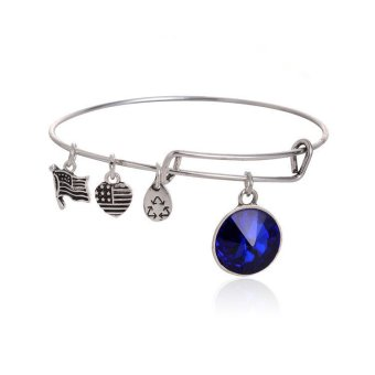 Alex and Ani Bracelets September Birthstone Expandable BanglesCrystal Pendants Charm Bracelets- Intl