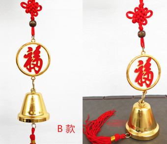 All the way to feng shui mahogany enlightenment copper bell car hanging