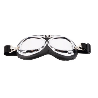 Allwin Hot Anti-UV Safety Motorcycle Scooter Pilot Goggles HelmetGlasses Motocross Silver