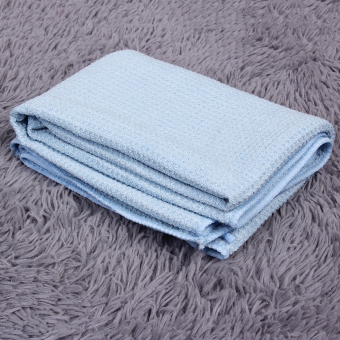 Allwin New High Quality Car Drying Towel Blue Waffle Weave Microfibre 60 x 80cm - Intl Price Philippines
