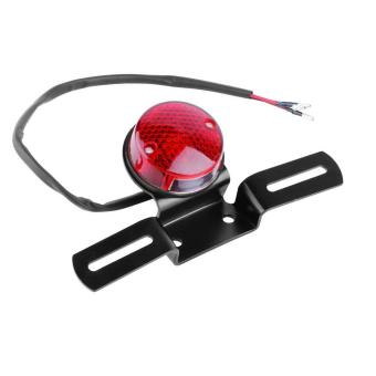 Allwin Universal Red LED 12V Motorcycle Rear Tail Light Round BrakeStop Lamp