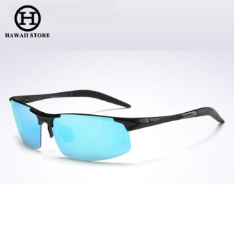 Aluminum Magnesium Alloy Polarized Sunglass For Men Outdoor Sport Driving Male Sun Glasses Day Vision???Black Blue??? Price Philippines