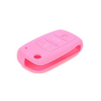 Amango Keyless Entry Remote Holder for VW Volkswagen Jetta Passat Pink