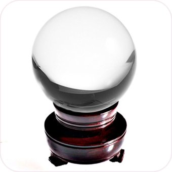 Amlong Crystal Clear Crystal Ball 80mm Including Wooden Stand -Intl