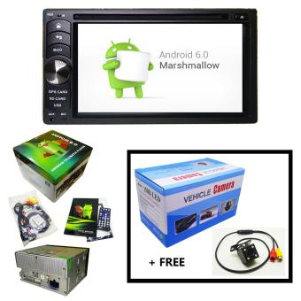 Android 6.0 In-Car Capacitive Touch Screen Multi-Function Telematic Player + Rear View Camera (1508-LED)