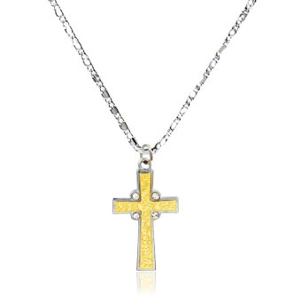 ANIME ZONE Re:Zero Anime Ram Cross Fashionable Pendant Necklace (Silver/Gold)