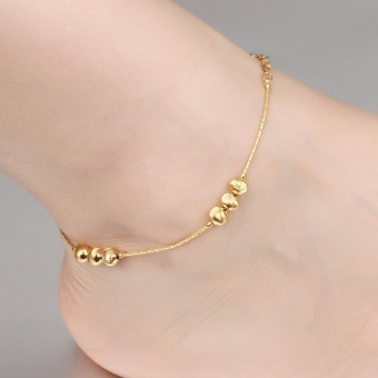 Anklet Foot Jewelry Gold Anklet Bracelet Leg Chain 18K Gold PlatedAnklets for Women Bridal Foot Jewelry - intl Price Philippines