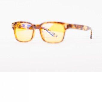 Anti-Radiation, Anti-Glare Computer Reading Eyeglasses(Brown/Animal Print) - 5