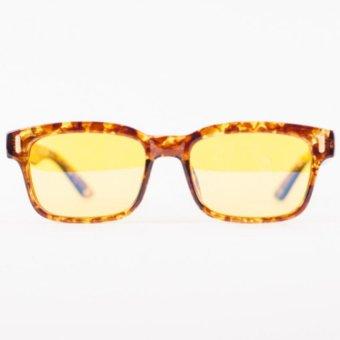 Anti-Radiation, Anti-Glare Computer Reading Eyeglasses(Brown/Animal Print) - 4