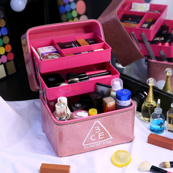 Anti-splash water portable large portable cosmetic makeup box