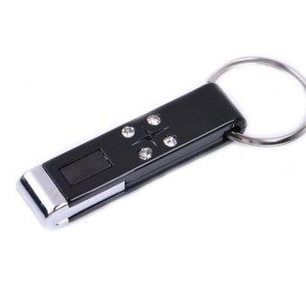 Anti Static Keychain With Flashing Light Indicator (Black)