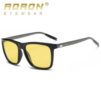 AORON Night Vision Polarized Sunglasses Men and Women Luxury NightDriving Goggles Unisex UV400 HD Anti Glare Sun Glasses N-6108 -intl