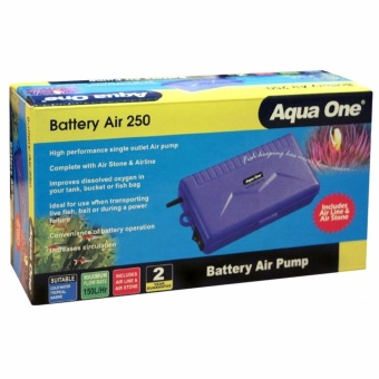 Aqua One Battery Air 250 Battery Operated Aquarium Air Pump