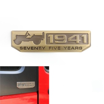 Areyourshop 75 Years Anniversary 1941 Metal Emblem Badge for JeepCherokee Willys Wrangler - intl