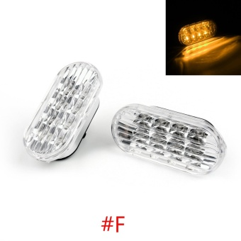 Areyourshop Clear Yellow LED Side Marker Turn Signal Light For VW98-04 Golf Jetta Passat - intl