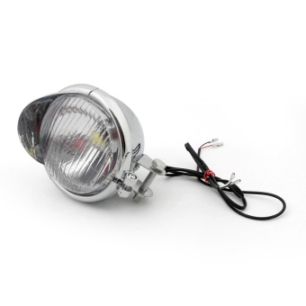 Areyourshop Motorcycle LED Angel Eye Headlight Fog Light For HarleyDyna Glide Chrome - intl