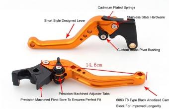 Areyourshop Short Brake Clutch Levers For Kawasaki ER-6N/F NINJA650R/ER-6F (09-15) VERSYS 650cc (09-14) NINJA 400R (2011) Silver -intl - 3