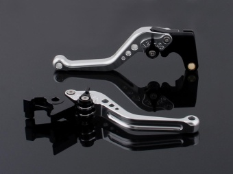 Areyourshop Short Brake Clutch Levers For Kawasaki ER-6N/F NINJA650R/ER-6F (09-15) VERSYS 650cc (09-14) NINJA 400R (2011) Silver -intl - 2