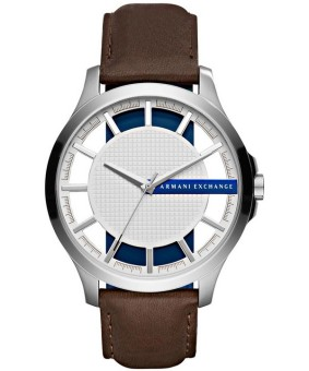 Armani Exchange Smart Men's Brown Leather Strap Watch AX2187
