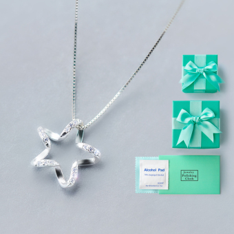 A'ROCH simple star silver necklace
