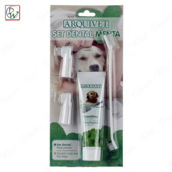 Arquivet Set Dental Menta Pet Dog Dental Care Kit with Toothpaste and Toothbrush Set - 2