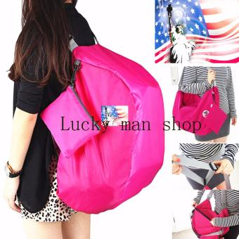 As Seen On TV Malaysia USA TOP quality 3 Way Easy to Carry Lightweight Foldable Bag pink