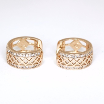 Athena & Co. 18K Gold Plated Alexis Diamond Hoop Earrings