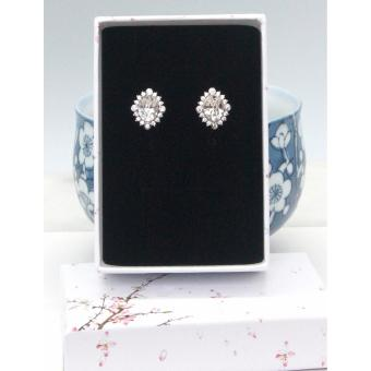 Athena & Co. 18K Gold Plated Marquise Cut Swarovski Stud Earrings - 2